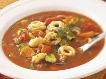Auntie Kathy's Sausage Tortellini Soup Recipe