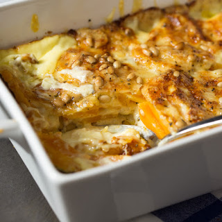 Cheesy Butternut Gratin