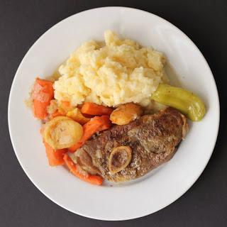 Slow-Cooker Braised Lamb Steaks