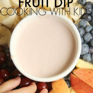 Jam and Greek Yogurt Fruit Dip.