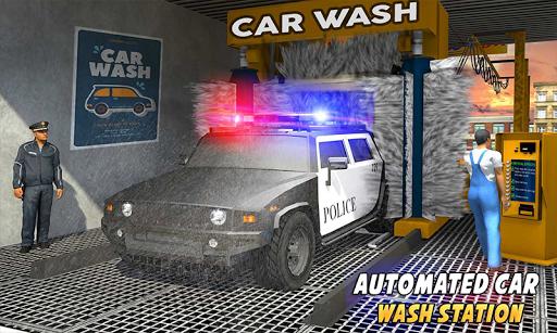 Police Car Wash Service: Gas Station Parking Games 1.2 screenshots 2