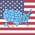 U.S. Quiz - States, Maps, Cities and Presidents icon
