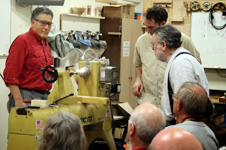 Photo: Lathe malfunction!  Lost of speed control. Demonstration error number one!