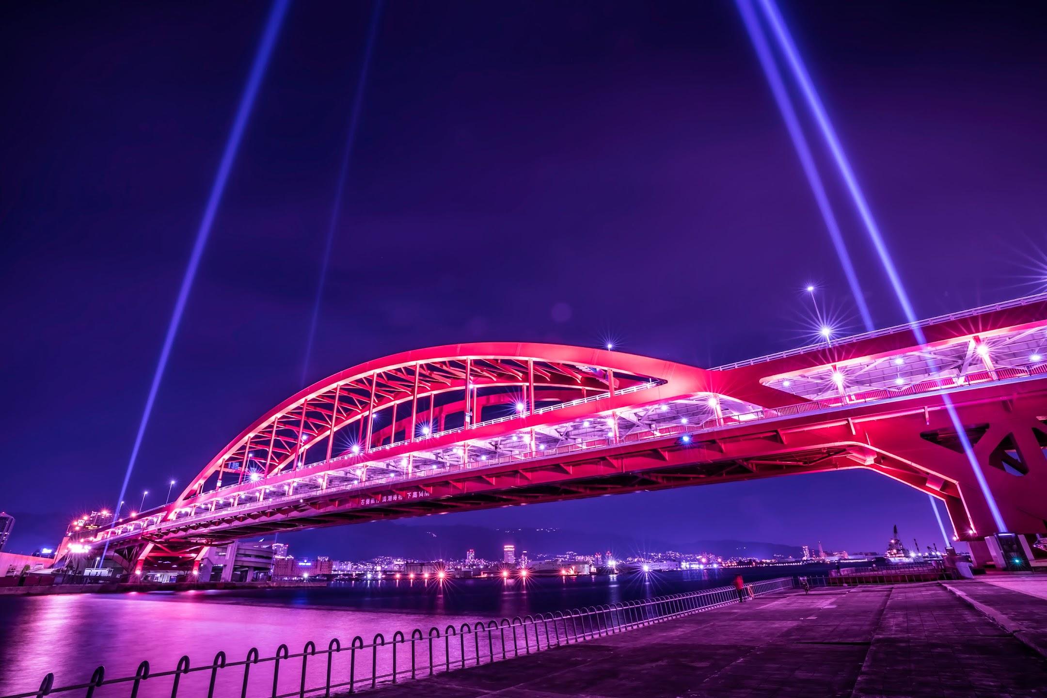 Kobe Great Bridge light-up night3