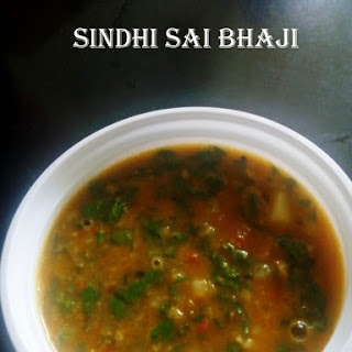 Sai Bhaji/Sindhi Sai Bhaji/Green Leafy Vegetables with Dal.