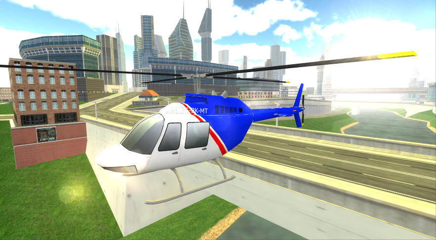 City Helicopter Simulator Game- screenshot
