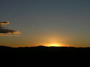 Photo: Sunset over the altiplano.