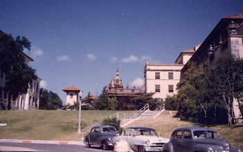 Photo: Littlefield Hall, University of Texas. Home of the NROTC. About 1952.