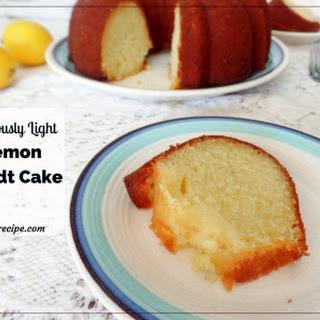 Luscious and Light Lemon Bundt Cake.