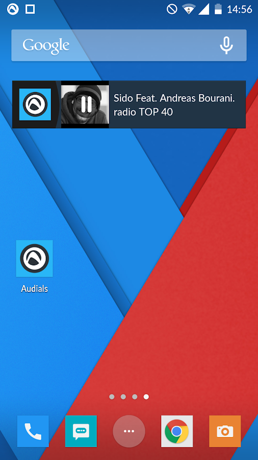 Radio Player de Audials: captura de pantalla