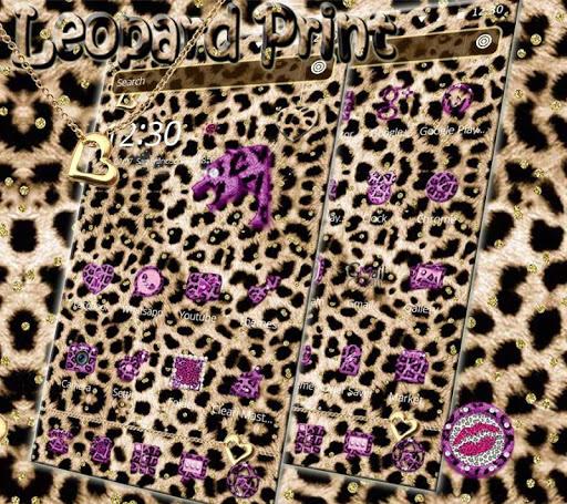 Pink Gold leopard Print Theme 1.1.5 screenshots 3