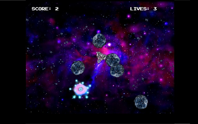 Asteroids - modernized Classical game