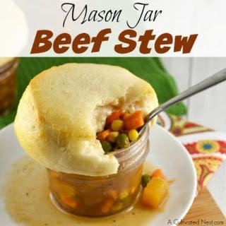 Mason Jar Beef Stew