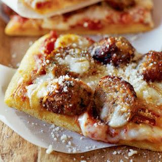 Meatball Pizza.