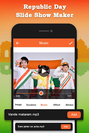 Republic Day Slideshow Maker - 26 Jan Movie Maker 1.0 screenshots 3