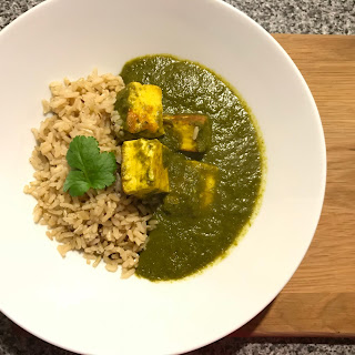 Palak Paneer (Cottage Cheese & Spinach Curry).