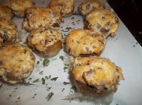 Cheesy Bacon Stuffed Mushrooms - Cass's Recipe