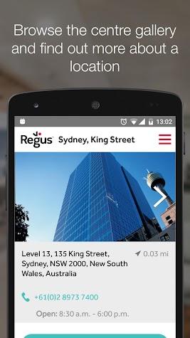 Regus offices & meeting rooms Screenshot