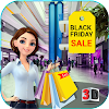 Black Friday sale shopping mall cashier ATM machin