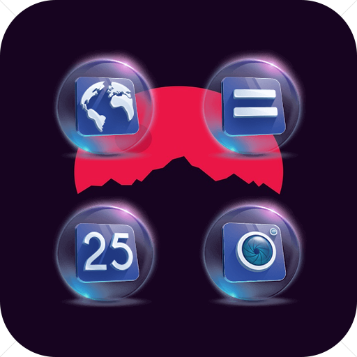 Crystal Ball Perspective Blue Purple Icon Pack