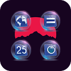 Crystal Ball Perspective Blue Purple Icon Pack icon