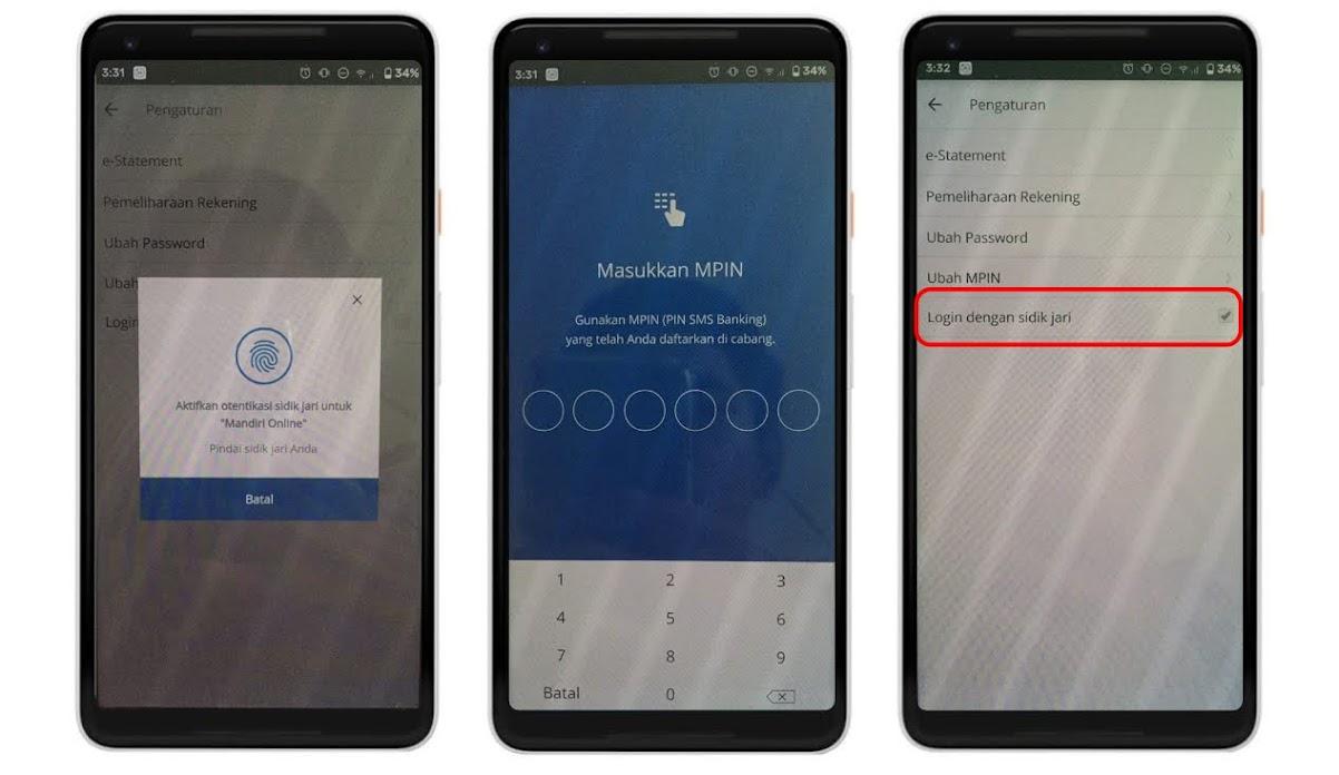 Cara Aktifkan Fingerprint Login Di Mandiri Online Fajar Mukharom