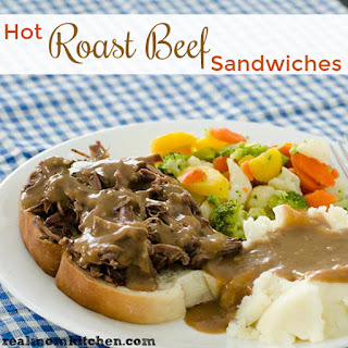 Slow Cooker Hot Roast Beef Sandwiches.