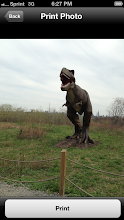 """Photo: Then click """"print"""" for the photos you want printed, you'll be prompted to choose a size. This scary dino is from Field Station Dinosaur in Secacus, NJ."""