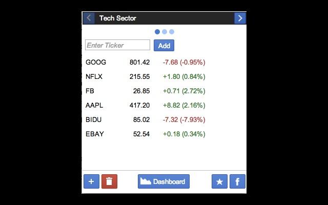 stock portfolio chrome web store