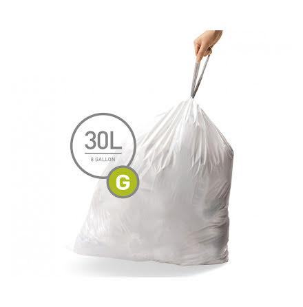 Avfallspåsar till Simplehuman 3 x pack med 20 påsar(60-påsar)  TYP G