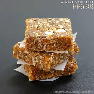 No-Bake Apricot Chia Energy Bars.