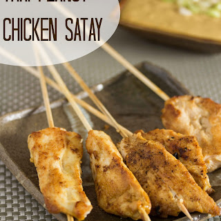 Thai Peanut Chicken Satay
