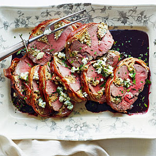 Gorgonzola-Stuffed Beef Tenderloin with Port Wine Sauce