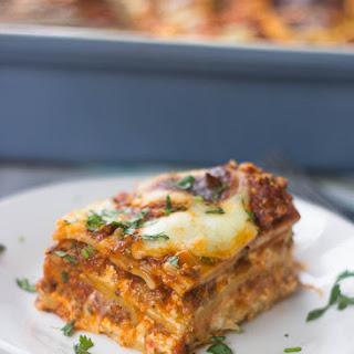 The Best Ever Beef Lasagna.