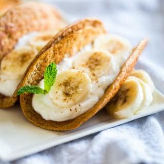 Greek Yogurt Banana Pancakes Tacos