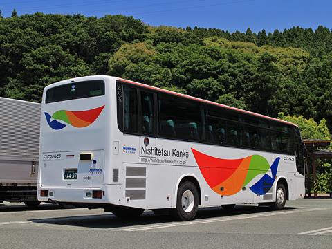 西鉄観光バス 9631 リア