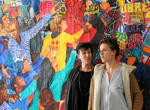The Chevalme sisters are resident artists at Le 6B in St-Denis