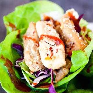 20 Minute Spicy Asian Chicken Lettuce Wraps