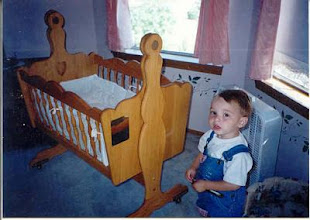 Photo: Cradle for sister, and the first one to use it...