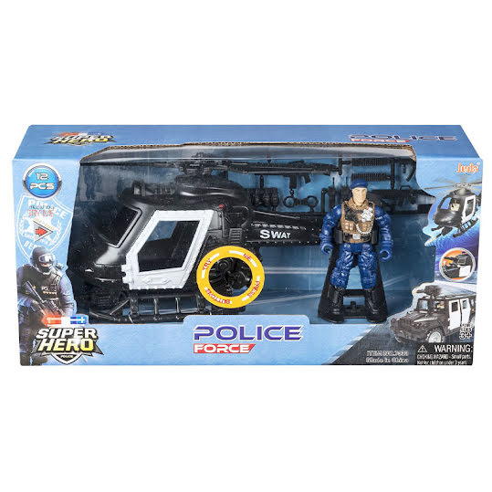 Super Hero Polis med helikopter