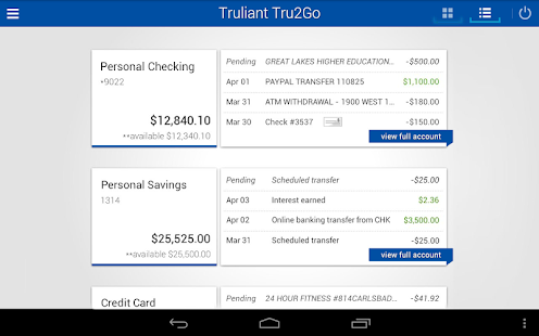 Tru2Go Truliant Mobile Banking- screenshot thumbnail