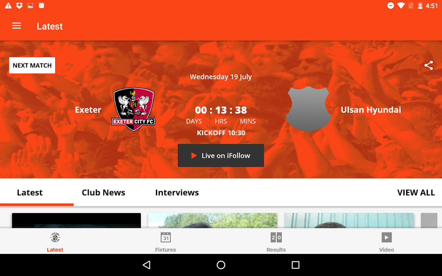 Luton Town Official App- screenshot