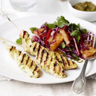 Salmon Chermoula Kebabs