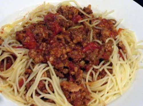 "Amazing Bolognese""FANTASTIC! I've tried other bolognese recipes and this one is by..."