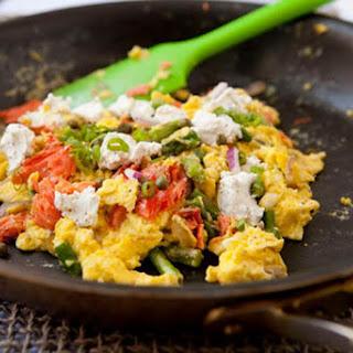 Healthy Breakfast Salmon Egg Scramble.