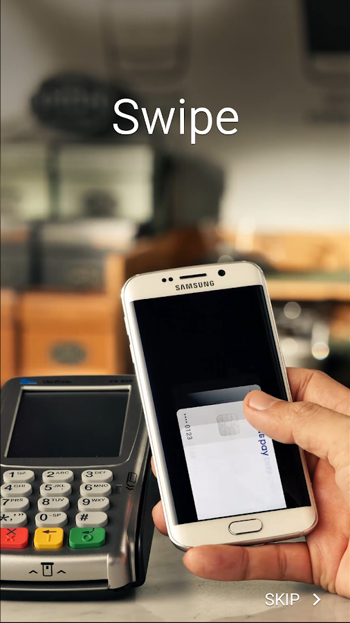Screenshots of Samsung Pay for iPhone