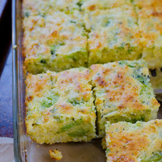 Broccoli Cornbread Squares.