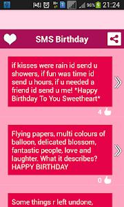 Happy Birthday SMS screenshot 1