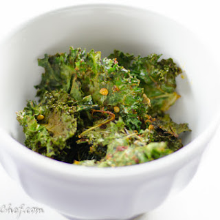 Dehydrated Kale Chips.
