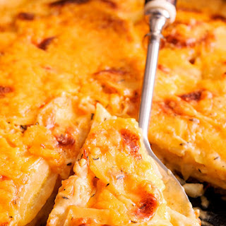 Cheddar, Thyme and Beer Potatoes Au Gratin Recipe